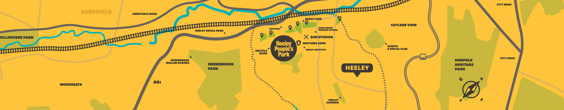 Heeley People's Park Map